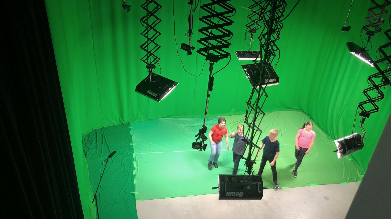 Royal Life Saving Society –image from the green screen video shoot - Gallery image for Royal Life Saving Society project