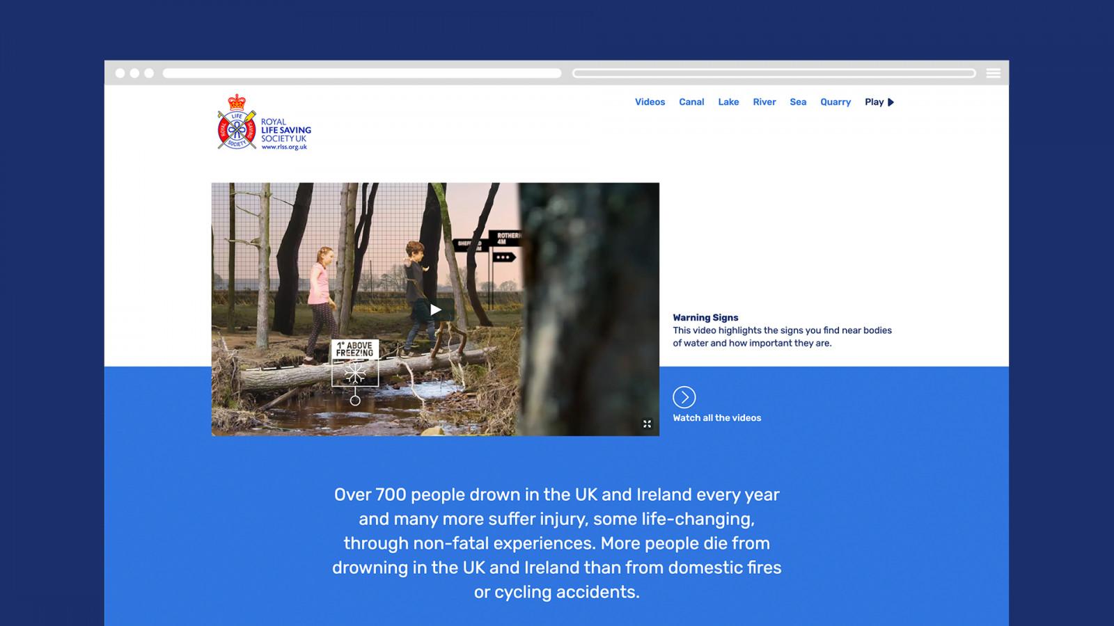 Royal Life Saving Society –website -  image for Royal Life Saving Society project