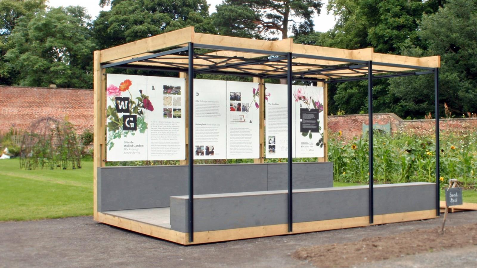 gibside pavillion 2 -  image for Gibside National Trust – Walled Garden project