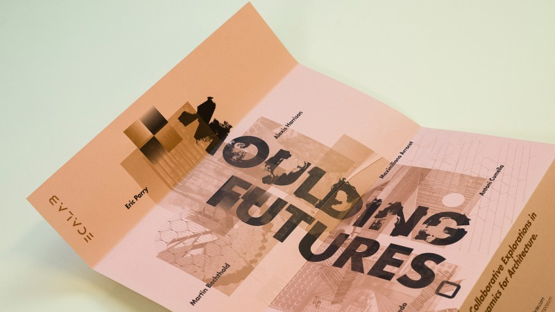 Moulding Futures - Poster Metallic Ink Detail